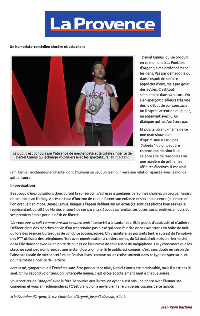 La Provence- Mars 2016