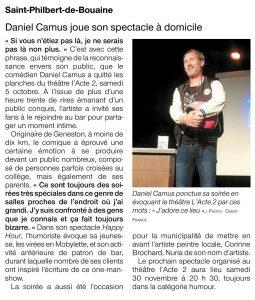 Daniel Camus à domicile